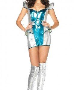 A144 Costum Halloween extraterestru - Altele - Haine > Haine Femei > Costume Tematice > Altele