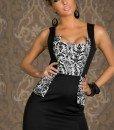 A190 Rochie eleganta cu model - Rochii de seara - Haine > Haine Femei > Rochii Femei > Rochii de seara