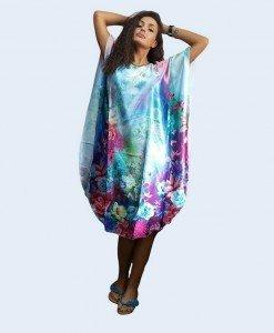 B356-12 Lenjerie desu larg tip kimono cu model floral - Halate - Haine > Haine Femei > Lenjerie intima > Halate