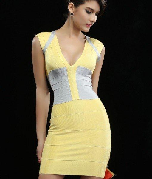 BAN14 Rochie Modelatoare Bandage – Rochii de club – Haine > Haine Femei > Rochii Femei > Rochii de club