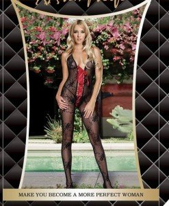 BS24 Lenjerie Catsuit Dama - Bodystockings