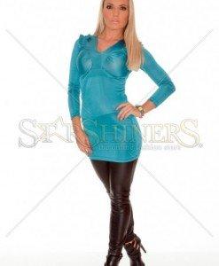Bluza MissQ Natural Shine Turquoise - Bluze -
