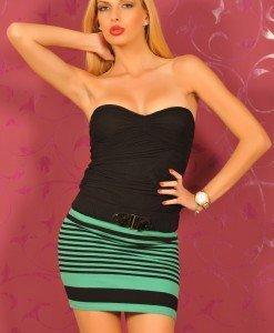 BsK151 Fusta dama in Dungi - Bershka - Haine > Brands > Bershka