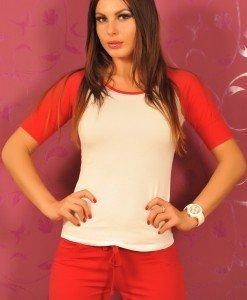 BsK70 Bluza cu Maneca Treisfert - Bershka - Haine > Brands > Bershka