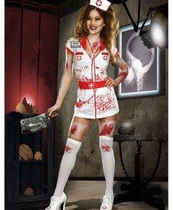 C320 Costum Halloween asistenta rea - Asistenta Medicala - Haine > Haine Femei > Costume Tematice > Asistenta Medicala
