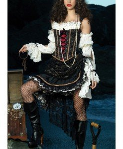 C326 Costum Halloween pirat sexy - Pirat - Haine > Haine Femei > Costume Tematice > Pirat