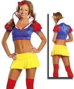 C83 Costum Halloween Alba ca Zapada - Basme si Legende - Haine > Haine Femei > Costume Tematice > Basme si Legende