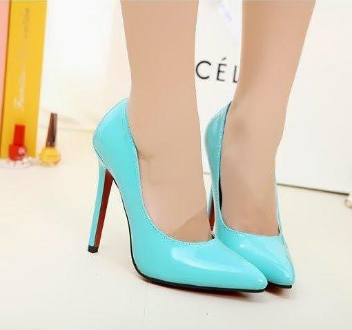 CH2237-122 Pantofi stiletto din lac cu toc inalt – Pantofi Dama – Incaltaminte > Incaltaminte Femei > Pantofi Dama