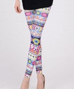 CL241 Colanti colorati cu model - Colanti - Haine > Haine Femei > Pantaloni Dama > Colanti