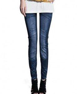 CL356-4 Colanti imitatie blug cu model prespalat - Colanti - Haine > Haine Femei > Pantaloni Dama > Colanti