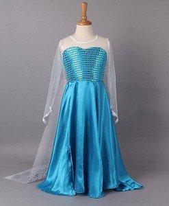 CLD17-4 Costum de copii - Elsa Frozen - Costume tematice - Haine > Haine Copii > Costume tematice