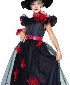 CLD24-1 Costum Halloween copii - vrajitoare - Costume tematice - Haine > Haine Copii > Costume tematice
