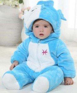CLD56-4 Salopeta zodia pesti pentru copii - Costume tematice - Haine > Haine Copii > Costume tematice