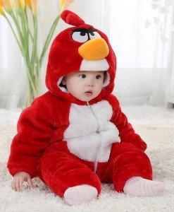 CLD65-3 Salopeta Angry Birds pentru copii cu trei staturi de material - Costume tematice - Haine > Haine Copii > Costume tematice