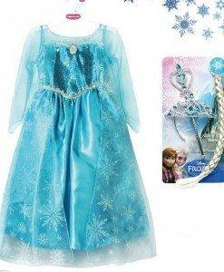 CLD81-4 Costum tematic printesa Elsa (Frozen) - Basme si Legende - Haine > Haine Femei > Costume Tematice > Basme si Legende