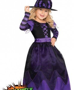 CLD9-10 Costum Halloween copii - vrajitoare - Costume tematice - Haine > Haine Copii > Costume tematice
