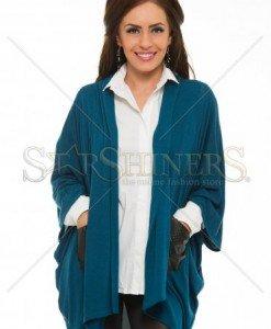 Cardigan PrettyGirl Cosy Tiff Turquoise - Sacouri - Jachete -