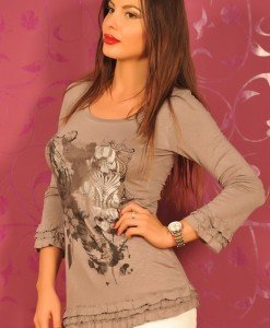 CrM09 Bluza Dama cu Imprimeu - Cream - Haine > Brands > Cream