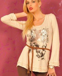 CrM11 Bluza Dama cu Imprimeu - Cream - Haine > Brands > Cream