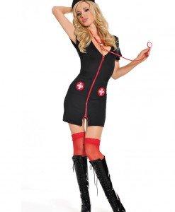D222 Costum asistenta sexy - Asistenta Medicala - Haine > Haine Femei > Costume Tematice > Asistenta Medicala