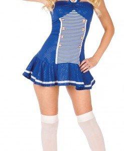 D322-4 Costum Halloween marinar cu boneta - Armata - Marinar - Haine > Haine Femei > Costume Tematice > Armata - Marinar