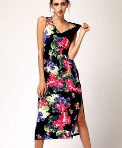 E280 Rochie cu print floral chinezesc - Rochii de vara - Haine > Haine Femei > Rochii Femei > Rochii de vara