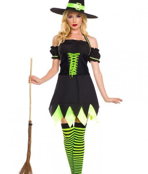 E324 Costum Halloween Vrajitoare – Vrajitoare – Vampir – Haine > Haine Femei > Costume Tematice > Vrajitoare – Vampir