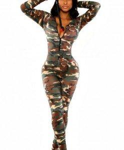 E373-120 Salopeta lunga sexy cu model Army - Salopete lungi - Haine > Haine Femei > Salopete > Salopete lungi
