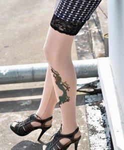F121 Ciorapi cu tatuaj - Ciorapi cu tatuaj - Haine > Haine Femei > Ciorapi si manusi > Ciorapi cu tatuaj