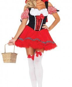 F142 Costum Halloween scufita rosie - Basme si Legende - Haine > Haine Femei > Costume Tematice > Basme si Legende