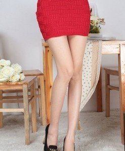 FS2-3 Fusta scurta tricotata - Fuste - Haine > Haine Femei > Fuste