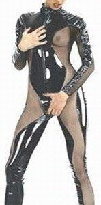 G13 Costum sexy din latex PVC - Salopete - Haine > Haine Femei > Costume latex si PVC > Salopete