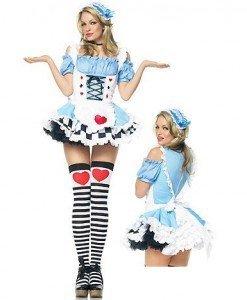 G146 Costum Halloween Alice in Tara Minunilor - Basme si Legende - Haine > Haine Femei > Costume Tematice > Basme si Legende