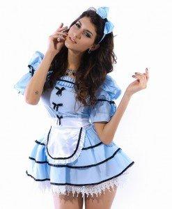 G148 Costum tematic Alice in Tara Minunilor - Basme si Legende - Haine > Haine Femei > Costume Tematice > Basme si Legende