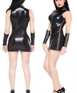 G16- Rochie Scurta Latex - Costume latex si PVC - Haine > Haine Femei > Costume latex si PVC