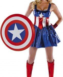 G312 Costum Halloween Captain America - Super Eroi - Haine > Haine Femei > Costume Tematice > Super Eroi