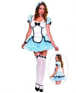 G324 Costum Halloween Alice in Tara Minunilor - Basme si Legende - Haine > Haine Femei > Costume Tematice > Basme si Legende