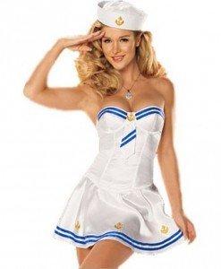 G327 Costum Halloween marinar sexy - Armata - Marinar - Haine > Haine Femei > Costume Tematice > Armata - Marinar