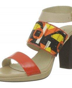 GDY67 Sandale de vara cu barete late din piele - Sandale dama - Incaltaminte > Incaltaminte Femei > Sandale dama