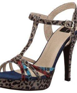 GDY72-18 Sandale din piele cu model animal print - Sandale dama - Incaltaminte > Incaltaminte Femei > Sandale dama
