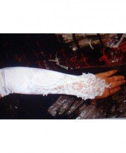GL6-2 Manusi lungi pe un deget pentru mireasa - Manusi dama - Haine > Haine Femei > Ciorapi si manusi > Manusi dama