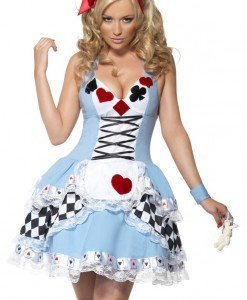 H140 Costum Halloween Alice in Tara Minunilor - Basme si Legende - Haine > Haine Femei > Costume Tematice > Basme si Legende
