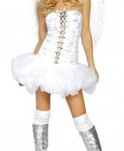 H19-A Costum tematic Halloween ingeras - Inger & Dracusor - Haine > Haine Femei > Costume Tematice > Inger & Dracusor
