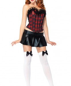 H320 Costum Halloween scolarita cu corset - Scolarita - Haine > Haine Femei > Costume Tematice > Scolarita