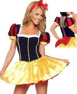 H45 Costumatie carnaval Alba ca Zapada - Basme si Legende - Haine > Haine Femei > Costume Tematice > Basme si Legende