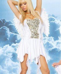 J131 Costum Halloween ingeras alb - Inger & Dracusor - Haine > Haine Femei > Costume Tematice > Inger & Dracusor