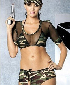 J215 Lenjerie tematica army - soldat - Lenjerii tematice - Haine > Haine Femei > Lenjerie intima > Lenjerii tematice
