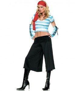 J228 Costum carnaval pirat - Pirat - Haine > Haine Femei > Costume Tematice > Pirat