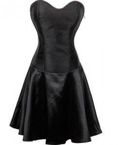 J312-1 Rochie eleganta cu corset din satin - Corsete cu fusta - Haine > Haine Femei > Corsete > Corsete cu fusta