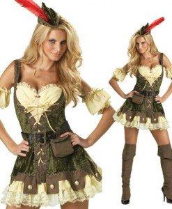 K130 Costum Halloween Robin Hood - Basme si Legende - Haine > Haine Femei > Costume Tematice > Basme si Legende